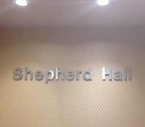 Cast metal products - Shepherd Hall signage