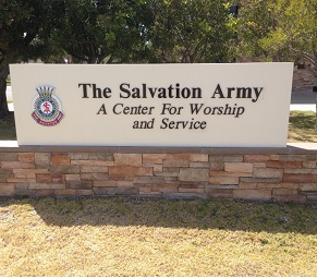 Example of DF Signs & Graphics monument sign - Salvation Army