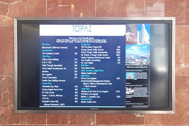 Wall Directory - Topaz