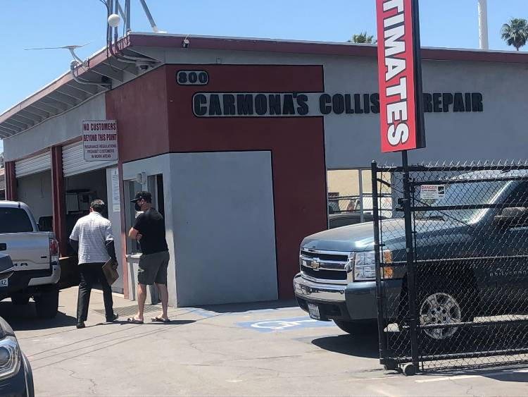 Business and Building Sign - Carmona's Collision Repair