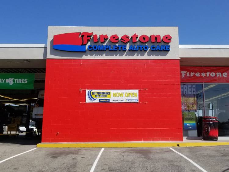 Building Sign with Channel Letters - Firestone Complete Auto Care