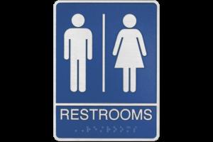 ADA Restroom Cast Metal Plaque