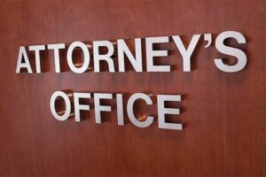 Attorney's Office Suite and Room ID Sign - Flat Cut Aluminum Letters