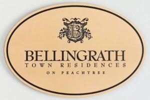 Bellingrath Town Residences - Metal Plaque Etched Filled Face