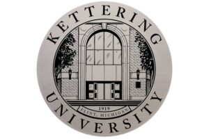 Aluminum Metal Plaque Lobby Sign with Etched Face - Kettering University
