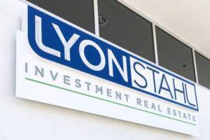 Custom Dimensional Sign Cabinet - Lyon Stahl Investment Real Estate