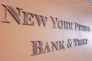 Custom CNC Routed Aluminum Letters - New York Private Bank & Trust