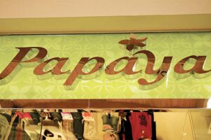 Polished Stainless Steel Letters - Papaya