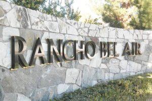 Rancho Bel Air - Reverse Channel Letters on Backer
