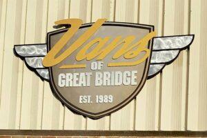 Flat Metal Panel with Dimensional Letters - Vans of Great Bridge