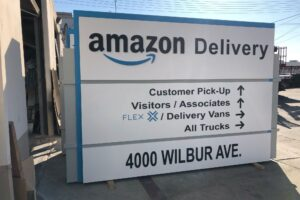 Monument Sign - Amazon Delivery, Oakley, Orange County, CA