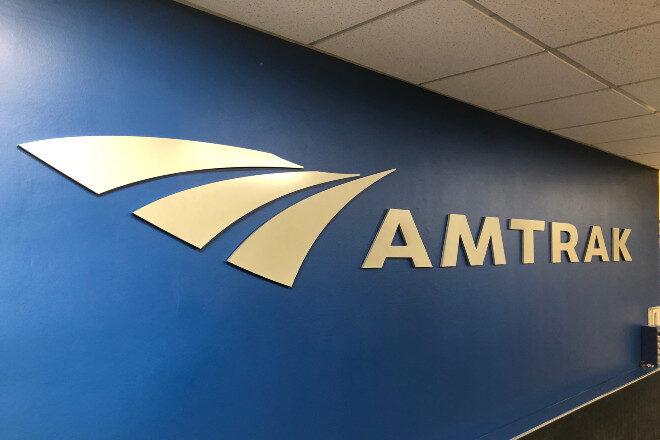 Aluminum logo letters - Amtrak