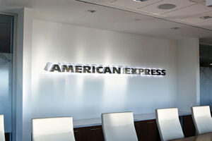 Channel Letters Stainless Steel Sign - American Express