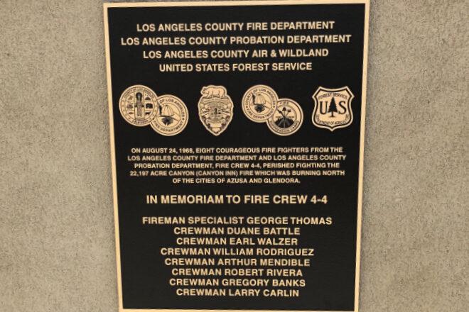 Cast bronze plaque - Los Angeles, CA