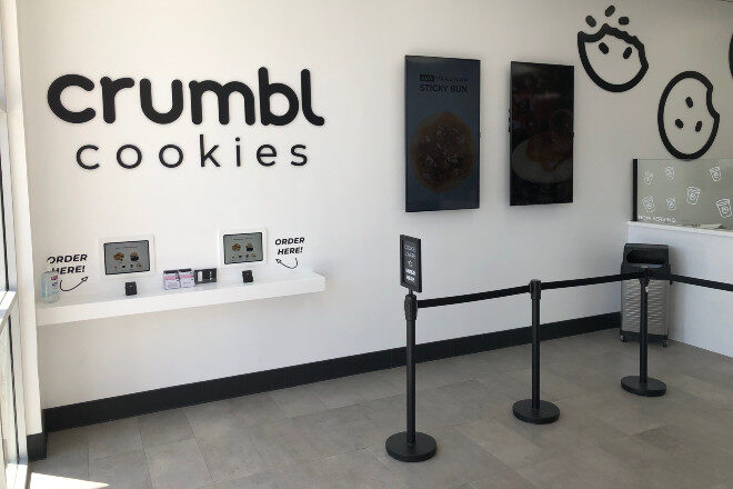 Dimensional cutout letters - logo for Crumbl Cookies