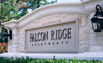 Falcon Ridge cast aluminum letters monument sign