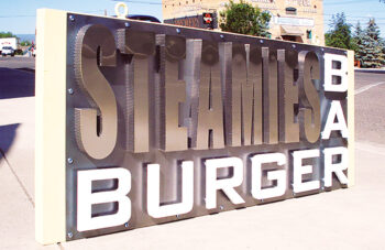 Steamies Burger Bar channel letters sign