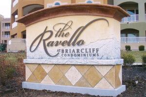 Monument sign - The Ravello at Briarcliff Condominiums